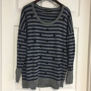 Lane Bryant Striped Polka Dot Sweater 14/16 Plus